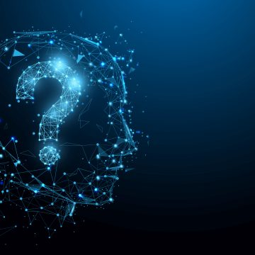 Blue Node Person with Question Mark