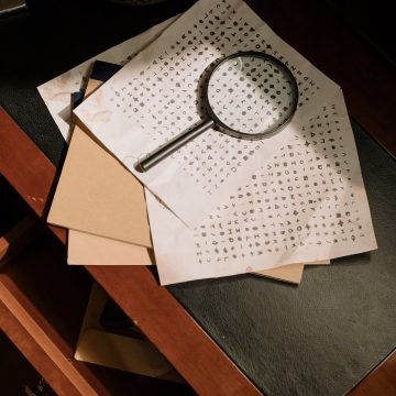 Ancient Decryption Letters with Magnifying Glass