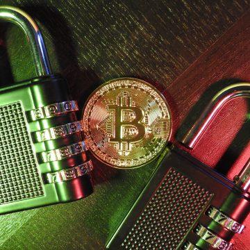 Bitcoin with Padlock